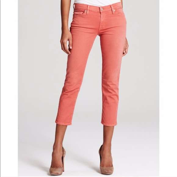 7 For All Mankind Denim - 7 For All Mankind The Cropped Skinny Jeans